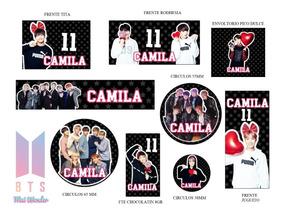 Stickers Candy Bar Etiquetas Tarjetas Bts Got7 K Pop Coreano
