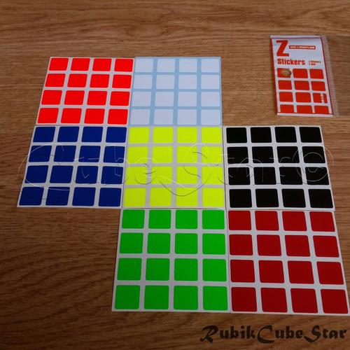 stickers cubo rubik 4x4 tradicional pegatinas- zcube