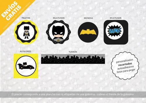 stickers de batman cortados para candy bar o mesa dulce