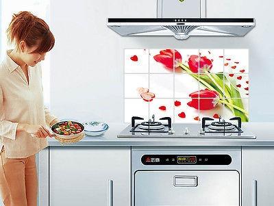 Stickers decorativos para cocina pared resistente al calor for Articulos decorativos para cocina