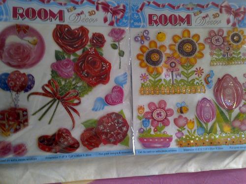 stickers decorativos   para las paredes (media docena)