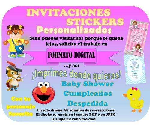 stickers e invitaciones personalizadas digitales