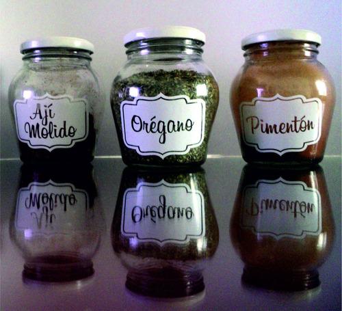 stickers etiqueta impresa frasco especiero botella souvenirs
