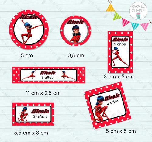 stickers etiquetas candy bar bailarinas  cortados kit x120u