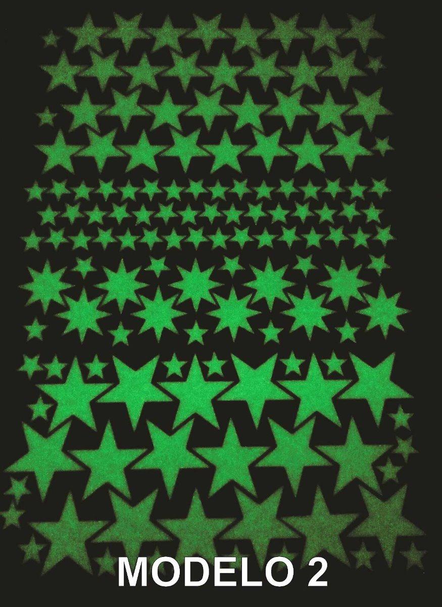 Stickers Fluorescentes Espacio Luna Estrellas P/techo/pared - $ 195 ...