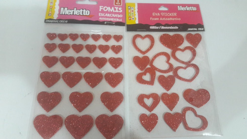 stickers foami fieltro escarchados merletto