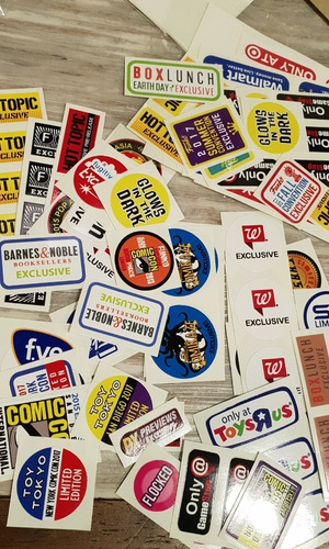 stickers funko pop exclusivos