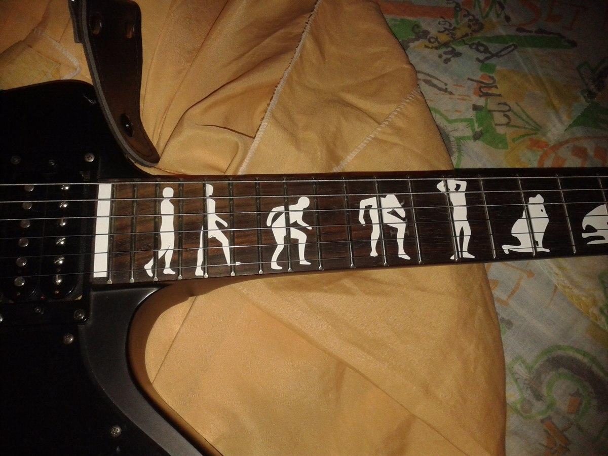 Stickers Guitarra Electrica James Hetfield Man To Wolf Esp