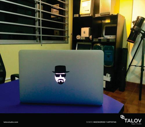 stickers heisenberg para computadoras apple de breaking bad