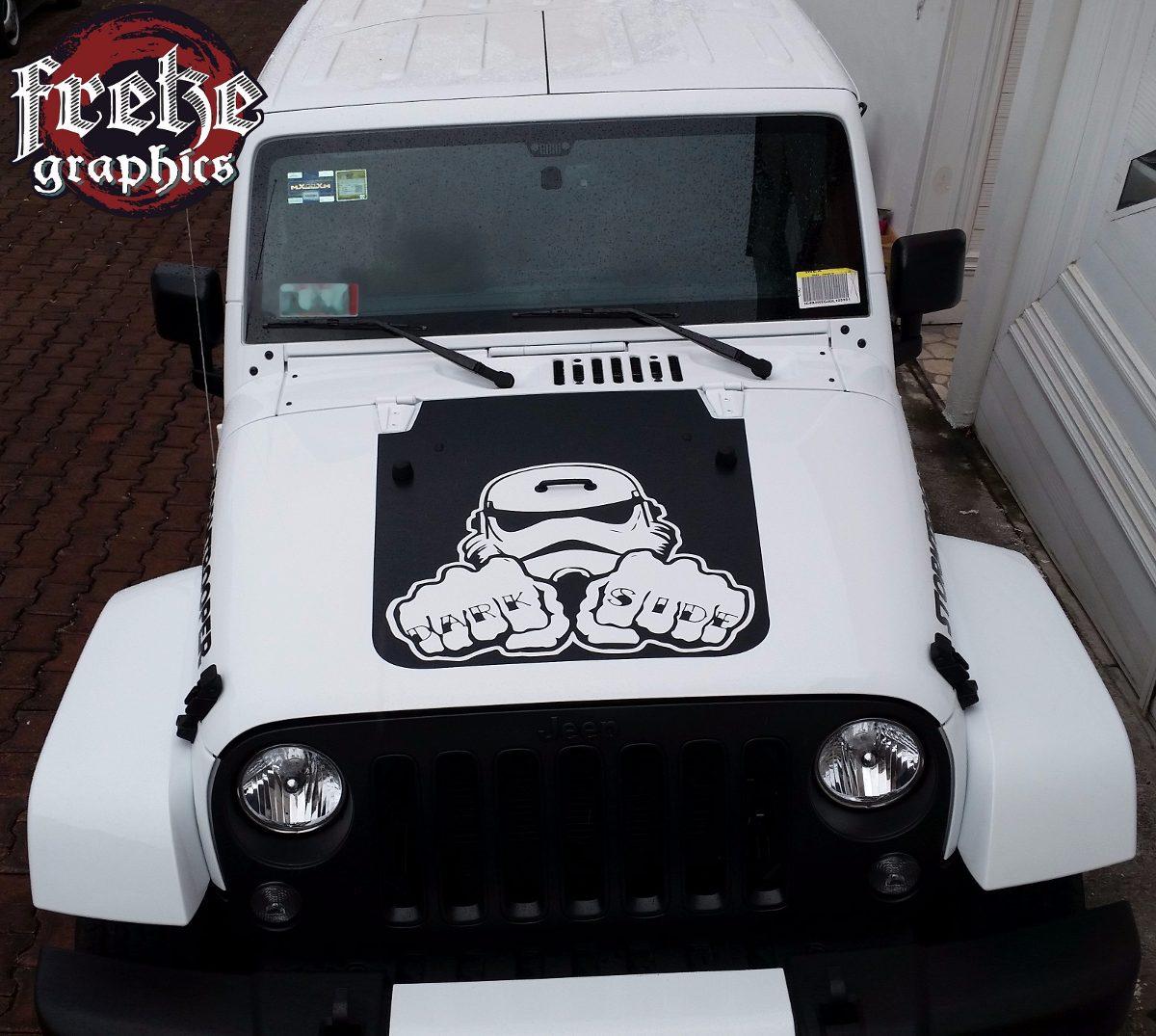 Stickers Jeep Rubicon Wrangler Cofre Estampas Calcomanias