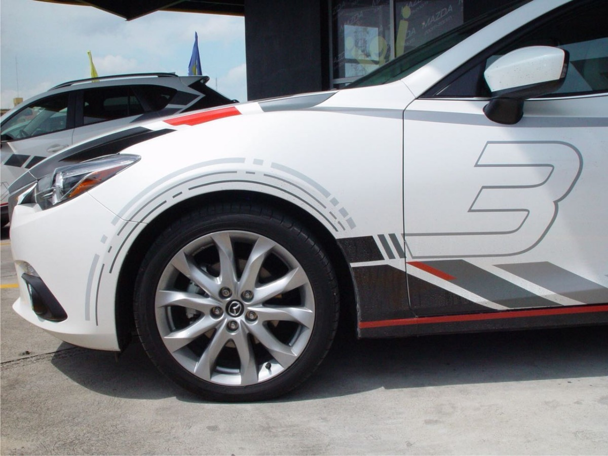 Stickers Kit Mazda 3 Racing Vinil Hatchback Y Sedan
