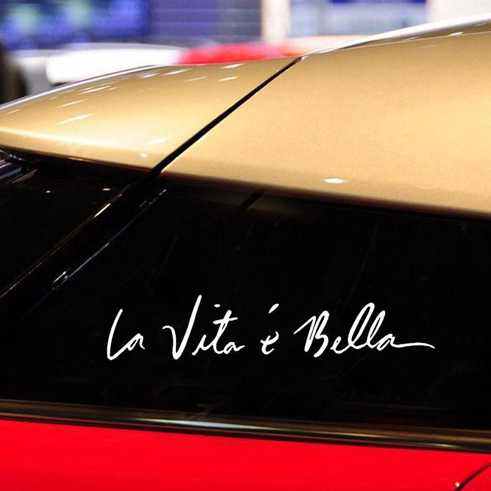 Stickers La Vita E Bella Tuning Frase Euro Jdm S 3000 En Mercado