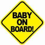 stickers   mama in car  bebe a bordo autos camionetas mde