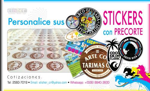 stickers o ahesivos o etiquetas ahesivas con pre-corte