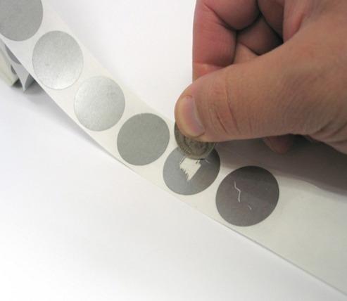 stickers o etiquetas raspables, rascables