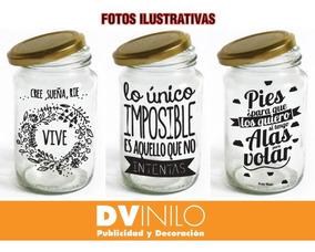 Stickers Para Frascos Frases Etiquetas Botellas