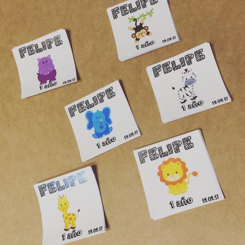 stickers para frascos personalizados