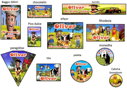 stickers personalizados para tu candy bar!!