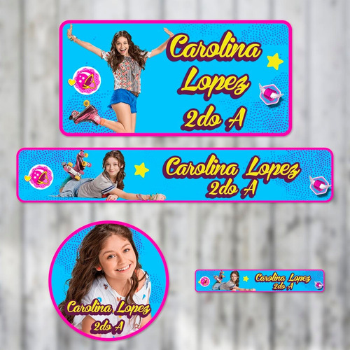 stickers personalizados para útiles escolares vuelta al cole