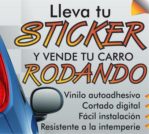 stickers se vende letrero autoadhesivo