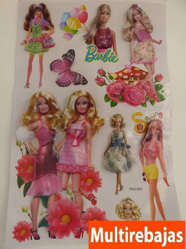 stickers tridimencional barbie stickers barbie y sus amigas