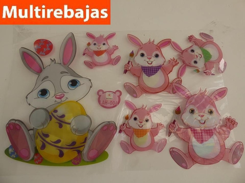 stickers tridimencional conejo stickers conejo de pascuas