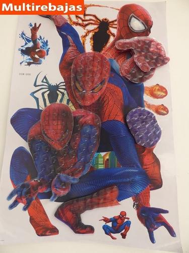 stickers tridimensional hombre araña stickers spiderman