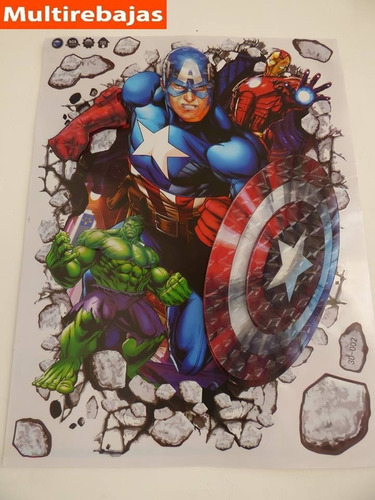 stickers tridimensional vengadores stickers the avengers