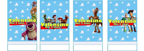 stickers troquelados candy bar personalizadas toy story
