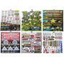 Plancha De Sticker Monster Yamaha Rockstar Motocross R15 Fz