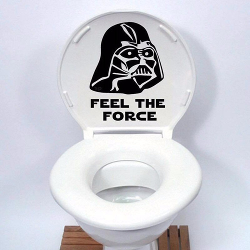 stickers / vinilo star wars para baño