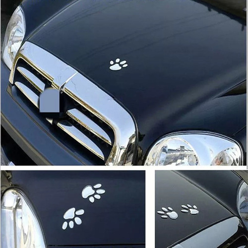 sticket huellitas de perro - decorativo para carro y moto