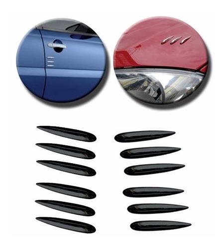 stickparts mini friso decorativo cromado 5cm 12 peças preto