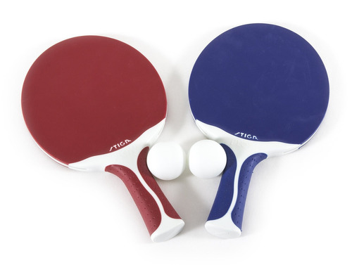 stiga flow set de tenis de mesa en exteriores, para 2 jugad