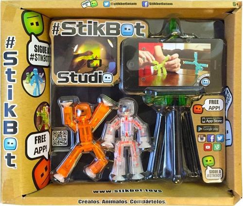 stikbot estudio de grabacion con 2 muñecos y tripode lelab