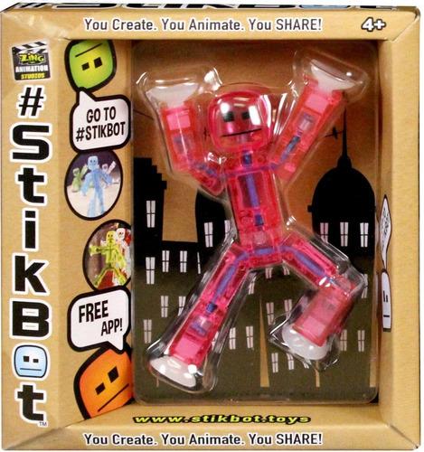 stikbot muñeco robot articulado single pack descarga la app