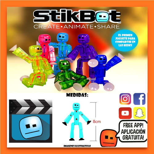 stikbot muñeco robot articulado single pack oficial lelab