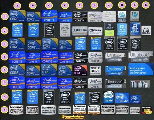 stiker etiqueta intel amd nividea geforce asus windows7 8 10