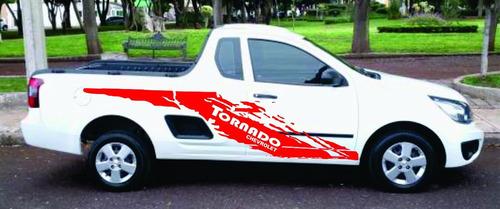 stiker vinil estampa camioneta chevrolet  tornado