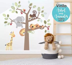 Stikers Para Bebes Safari Jungla Decoracion Cuarto Bebe