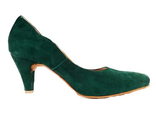 stiletto gamuza taco forrado mujer shoestore