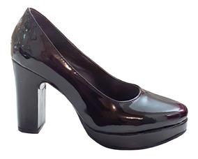 precio competitivo 0c2cd 85d8b Stilettos Clásicos Zapatos De Mujer Taco Palo - Charol Negro