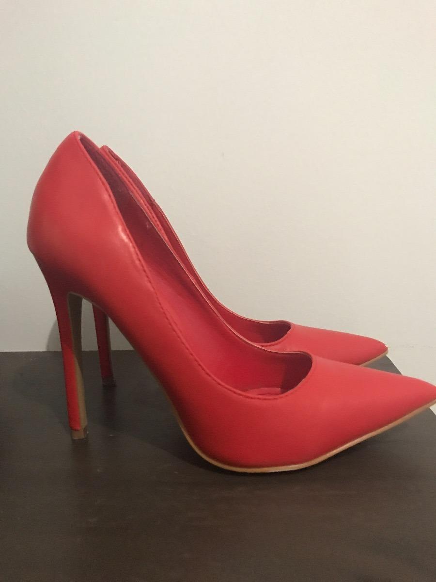 55939787 Stilettos Rojos Mujer - $ 450.00 en Mercado Libre