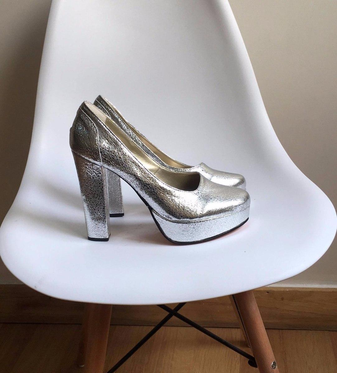 stilettos zapatos taco palo fiesta plateados art 4649. Cargando zoom. 48aaaebaac88