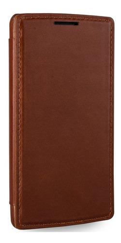 stilgut ultraslim tipo de libro caja de cuero genuino para l