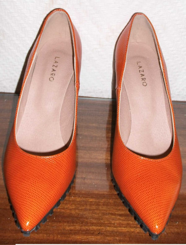 stilletos dallas naranja. nº 37. marca: lazaro