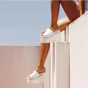 eebf6154c8ba4 Zapatos Plataforma Blanco Y Negro Ricky Sarkany - Zapatos en Mercado ...