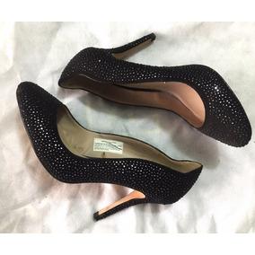 3092ba60e5aaf Zapatos Stilletos Zara Negros Con Brillo Talle 36 Usados
