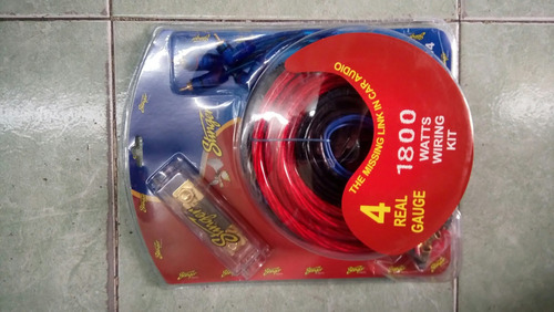 stinger kit de cables #4 para instalacion de amplificador