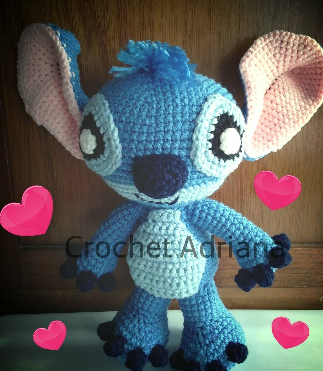 stitch amigurumi tejido crochet 1 en mercado libre. Black Bedroom Furniture Sets. Home Design Ideas